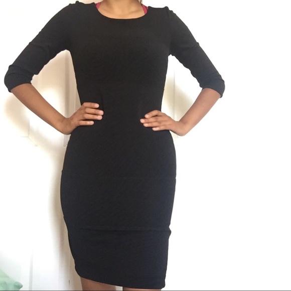 Dresses Black Tight Long Sleeve Dress Poshmark